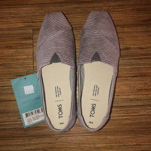 Toms Classic Corduroy - Cement Grey